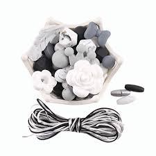 Buy <b>bopoobo 100pc Silicone</b> Teething Chew <b>Beads</b> Grey Black ...