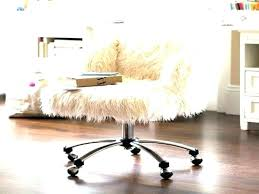 fuzzy desk chair faux fur chairs white furry swivel cover with slipcover