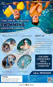 Download Free Swimming Pool Club Flyer Design Templates