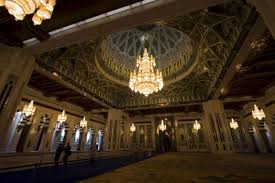 the main prayer hall of the grand mosque sultan qaboos grand mosque oman