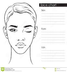 Makeup Artist Eye Charts Beautiful Woman With Short Haircut And One Eye Closed