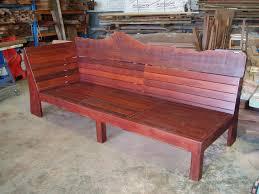 bench natural timber outdoor lounge day bed timber jarrah sun deck