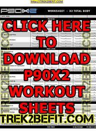 P90x2 Workout Sheets Free Pdf Download Here