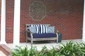 ... Beautiful Outdoor Living Room Decoration With Restoration Hardware  Outdoor Pillows : Appealing Front Porch Decoration Using ...