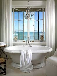 picturesque modern bathroom chandeliers bathroom with flair chandelier above white bathtub and white curtains t bathroom