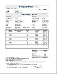 Credit Invoice Note Template Free Letter Of Format Sample Word