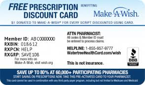 Make A Wish Mission Statement Watertree Health Card Wishes Granted By Rx Discount Card