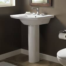 captivating pedestal sink bathroom design ideas with american standard tropic grande pedestal sink decorating in small