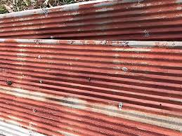 antique reclaimed rusty metal roof panels small corrugated 10