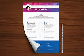 Photoshop Resume Template Simple Professional Resume CV Template Free PSD PSD Graphics