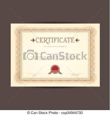 Certificate Design Background Certificate Or Diploma Template