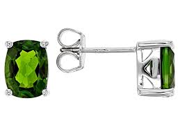 green chrome diopside sterling silver stud earrings 2 92ctw docy554 jtv com