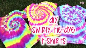 Tie Dye Swirl Design Diy Swirly Tie Dye T Shirts How To Tutorial