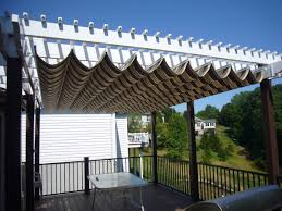 ... Interesting Home Exterior Design Using Patio Canopy Decoration Ideas :  Wonderful Deck Decoration Using With White ...