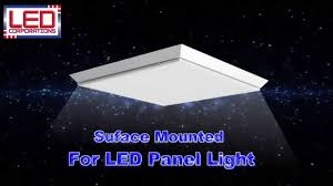 How To Install Surface Mounted <b>LED Panel</b> Light - YouTube