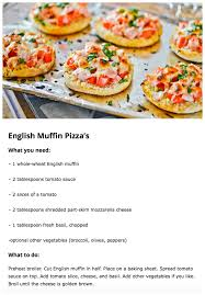 recipes for kids to make. Simple Recipes Englishmuffinpizzas In Recipes For Kids To Make