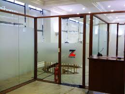 office glass frosting. Frosted Glass Partitions With Colour Logo Office Frosting
