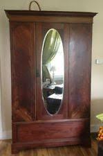 antique armoire wardrobe beautiful wmirror antique english mahogany armoire furniture
