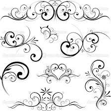 Fancy Scroll Designs Fancy Scroll Ornament Royalty Free