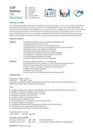 Hr Assistant Cv Template Job Description Sample Candidates Human