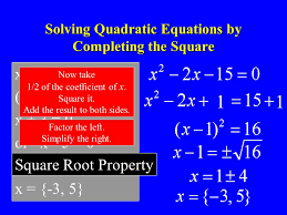 10 solving quadratic equations by completing the square