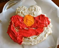 Elmo Cake Tutorial For Dummies Without An Elmo Cake Pan The Food