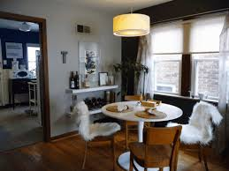 dining room table lamps chandeliers decorative broken white chair simple wooden floorboard majestic shiny silver