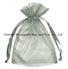 china whole bulk personalized custom printed silver grey jewelry gift drawstring pouch organza bag china organza bags organza pouch bags