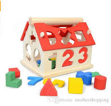 2018 wooden toys house number letter kids children educational intellectual blocks learning educational toys artificial intelligence app from motherping