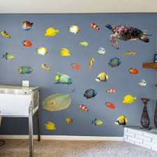 tropical fish life size animal removable wall decal fathead