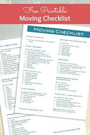 How To Plan A Big Move Free Moving Checklist Hello Little Home