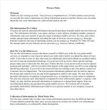 policy templates privacy policy template for online store 8 privacy policy sample