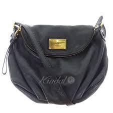 marc by marc jacobs classic q natasha classical cue natasha leather shoulder bag black