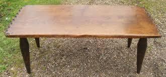 oak craftsman made long coffee table