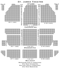 St James Theater Seating Chart St James Theatre Seating Chart
