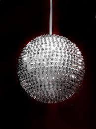 light lighting circle sparkle deco decoration fireworks silver light fixture sphere large chandelier shape glass