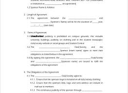 Student Agreement Template Student Contract Templates Best Photos Of ...