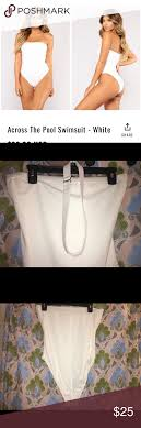 Fashionnova White Bathing Suit Never Worn Tried On And