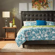 Full Upholstered Bed Frame Homesullivan Franklin Park Black Full Upholstered Bed 40315b712w