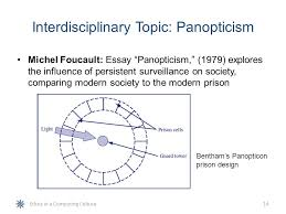 ethics in a computing culture ppt  interdisciplinary topic panopticism