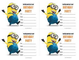 Print Out Birthday Invitations Minions Birthday Invitations Free Printable Allfreeprintable Minions 42