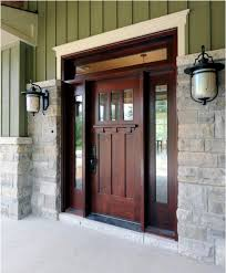 marvelous wood entry door double front door custom craftsman door and transom and stone