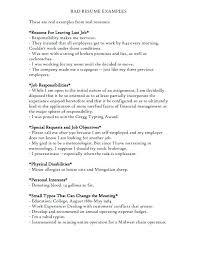 Examples Of Bad Resumes Tomburmoorddinerco Stunning Bad Resumes