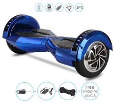 Black Hoverboard With Bluetooth And Lights 8 Inch Lambo Performance Chrome Blue Hoverboard For Child