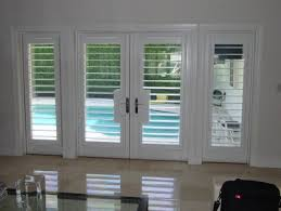 wooden shutters for french doors white stylish with plantation plan regard to 5