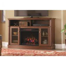 tv stand infrared bow front electric fireplace in mocha
