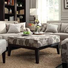 Inspire Q Classic Gray Flower with Leaves Square Ottoman - Grace your living  room dcor with