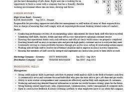 Bank Manager Cv Template Jobs Example Customer Accounts Resume Word