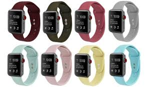 <b>Silicone Sport</b> Replacement <b>Band for</b> Apple Watch Seri... es 1, 2, 3 ...