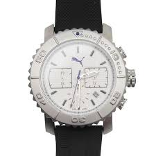 watches at sportsdirect com puma gallant silver watch mens
